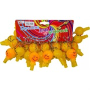 Брелок (KL-66) свисток смайлик светящийся желтый, цена за 120 шт (1200 шт/кор)