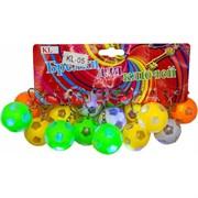 Брелок (KL-1278) мяч 36 мм светящийся футбольный 120 шт/уп