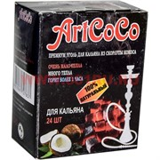 Уголь для кальянов Art Coco 250 гр кокосовый 24 кубика, 72 уп/кор