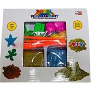 Кинетический живой песок Play Sand Kit (2 брикета по 300 гр) с формочками и лопаткой