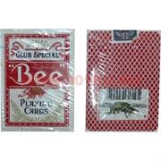 Карты для покера Bee красная рубашка, цена за 2 упаковки