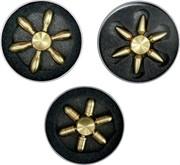 Спиннеры латунные 65-75 мм в ассортименте с железной банке