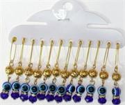 Булавка (HR-S-966) золотой шарик сглаз цена за 12 шт