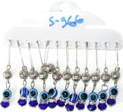 Булавка (HR-S-966) серебряный шарик сглаз цена за 12 шт