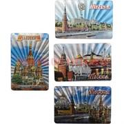 Магнит «Москва» 4 рисунка прямоугольный