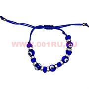Браслет детский «сглаз стразы синяя нитка» 12 шт/уп (200-110)