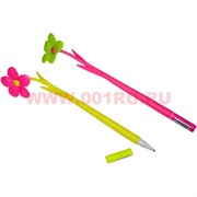 "Ручка шариковая ""Цветок"" цена за 12 шт (синий цвет чернил)"