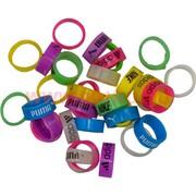 Кольца детские 100 шт силиконовые с названиями брендов, цена за упаковку