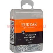 Скрепки канцелярские 25 мм 80 шт оцинкованные, цена за 12 упаковок