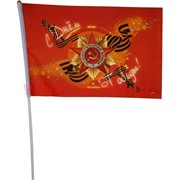 Флаг с Днем Победы 20х30 см (M16-1-7) с Орденом Отечественной Войны, 12 шт/бл