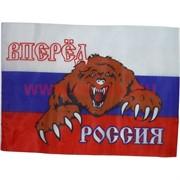 "Флаг ""Вперед Россия с медведем"" 95х145 см, 10 шт/бл"