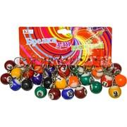Брелок (KL-59A) мяч бильярдный 25 мм, цена за 120 шт (960 шт/кор)
