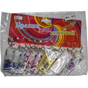 "Брелки для ключей ""Евро"" в пластмассе, цена за 12 шт"