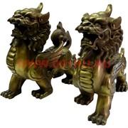 Бронза, Пекинские львы 12 см, цена за пару