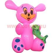 Надувная игрушка «Зайчик с рыбкой» 45 см