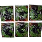 Лизуны животные и насекомые 9 видов, цвет черный (60 шт/уп, 720 шт/кор)