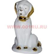 Белый фарфор Собака 12 см (60 шт/кор) символ 2018 года