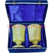Набор из оникса (3,5х5,5) 2 бокала 13 см в бархатной коробочке