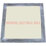 Фоторамка-багет квадратная серо-коричневая 30*30