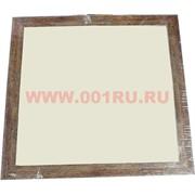 Фоторамка-багет квадратная светло-коричневая 25*25