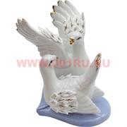 2 голубя на сердце 11 см из фарфора (раздельные фигурки)