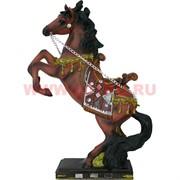 Лошадь на подставке с цепочкой 34 см  из полистоуна