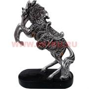 Символ 2014 года Лошадь на дыбах 18 см на подставке (NS909) из полистоуна