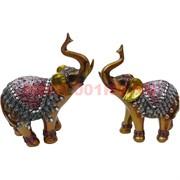 2 слона с поднятыми хоботами 19 см (702) цена за пару, 24 пары в коробке