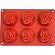 Силиконовая форма для выпечки (2110) роза 18х26 см, цена за коробку из 144 штук
