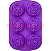 Силиконовая форма для выпечки (2163) роза 18х28 см, цена за коробку из 144 штук