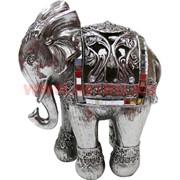 Слоник 15 см из полистоуна серебрянный (703) 24 шт/кор