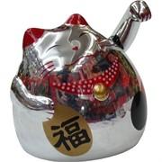 Кот Манэки-неко на батарейках 8 см, 192 шт/кор (цвет зеркальный)