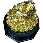 Статуэтка Жаба большая 28 см под золото крутящаяся