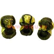 """3 обезьяны """"не вижу, не слышу, не смотрю"""" под кость"""