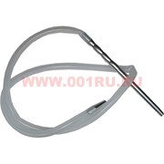 Шланг для кальяна Арт-Кальян (HP-43C) прозрачный силиконовый с алюминиевым мундштуком
