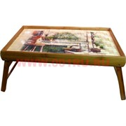 Столик бамбуковый с пейзажем 26 см