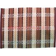 Циновка бамбуковая 34х25см, 6в1, цена за упаковку