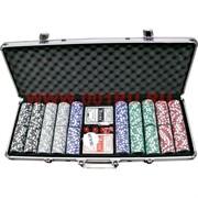 Набор для покера 500 фишек (14 гр) в кейсе