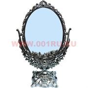 """Зеркало """"Овал"""" черное (0863-9) 37 см"""