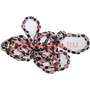 Браслет (BS-19) из гематита и сглаза, цена за 100 шт (розовый цвет)
