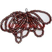 Браслет (BS-06) из гематита (таблетки) и красной яшмы, цена за 50 шт