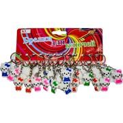 Брелок (KL-48) Hello Kitty белые резиновые, цена за 120 шт (2400 шт/кор)