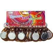 Брелок (KL-679) для гравировки наклейки коричневый, цена за 120 шт (2000 шт/кор)