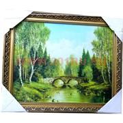 Картина 50х40 в гипсовой раме в ассортименте