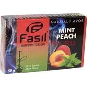 Табак для кальяна Fasil «Mint Peach» 50 гр (фасиль персик с мятой)