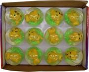 Игрушка мяч с водой «собачки» 65 мм цена за 12 шт