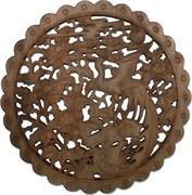 Панно настенное из сандалового дерева «Павлин» 28 см