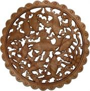 Панно настенное из сандалового дерева «Карпы» 28 см