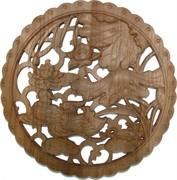 Панно настенное из сандалового дерева «Утки мандаринки» 28 см