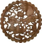 Панно настенное из сандалового дерева «Утки мандаринки» 38 см